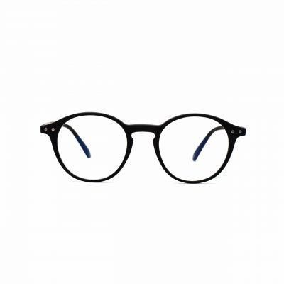 black_blue_light_glasses_round_luca_front
