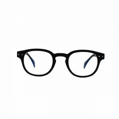 black_blue_light_glasses_square_anton_front